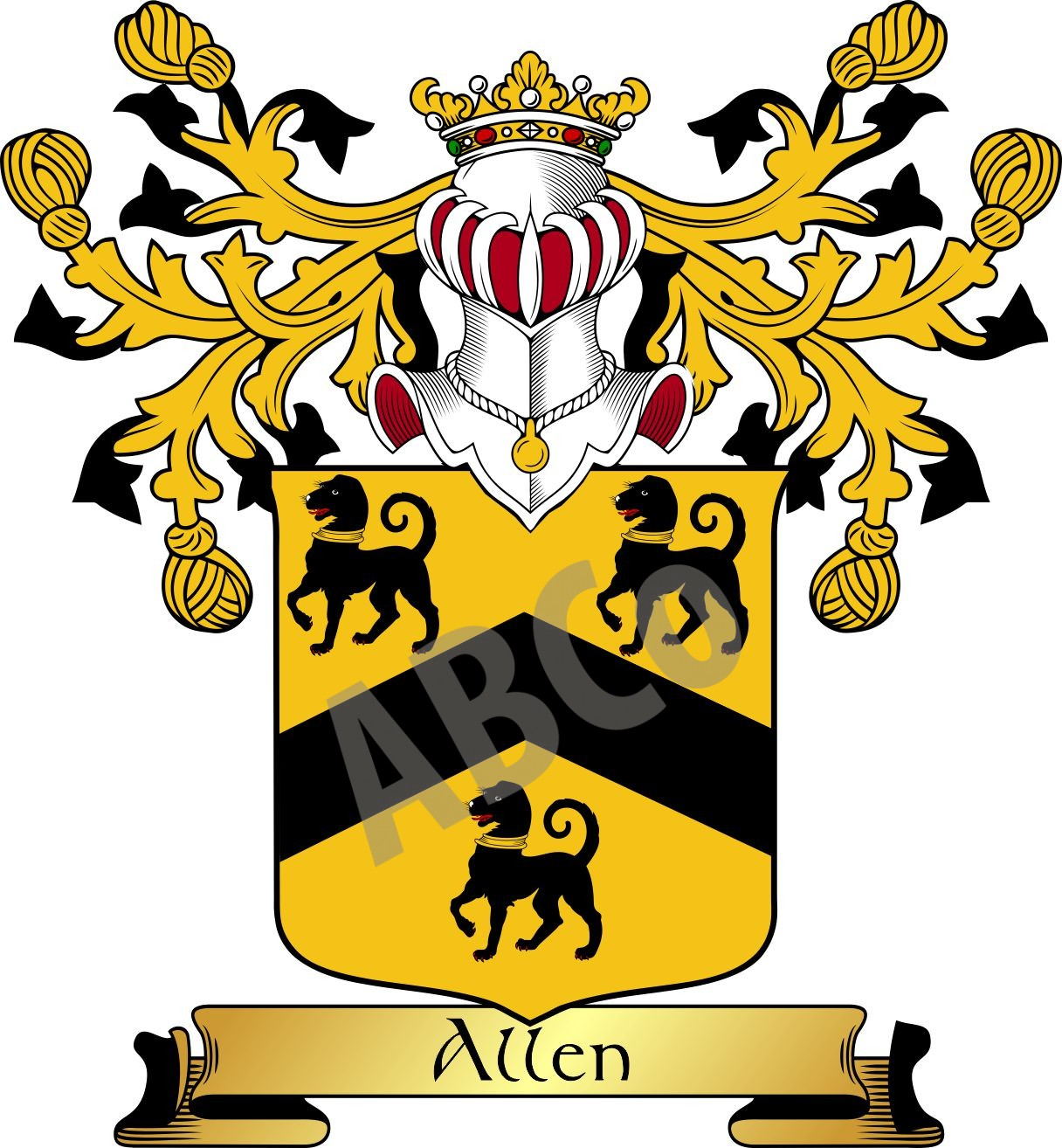 Allen Coat Of Arms Gifts England Armorial Bearings Company